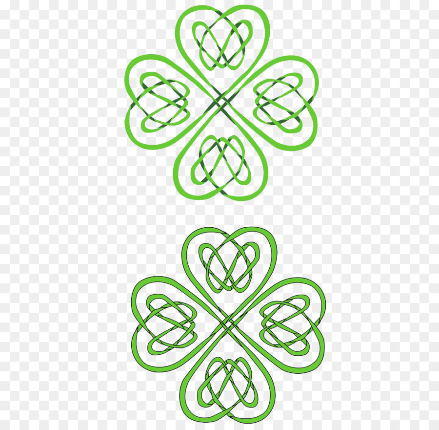 Trébol de cuatro hojas Celtas Celta nudo de Trébol - Trébol de la ...