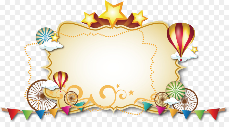 Circus Picture frame Clown Party Photography - Gold frame Vector png ...