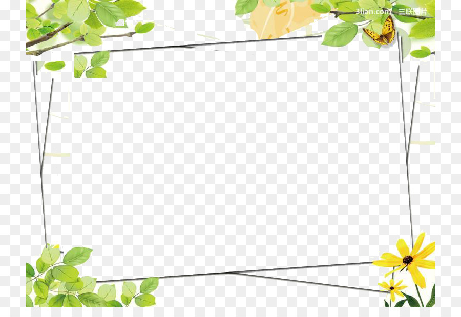 Green Google Images Color Clip art - Green flower frame png download ...