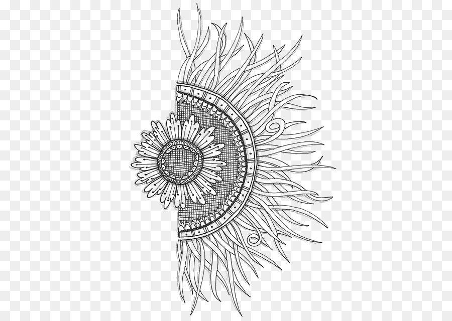 doodle paper drawing coloring book mandala sunflower png download