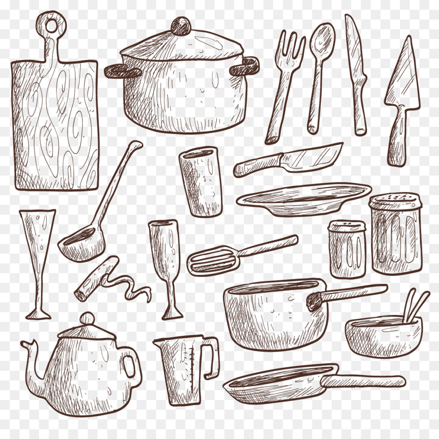 Table Kitchen utensil Drawing Kitchenware - Vector Kitchen png ...