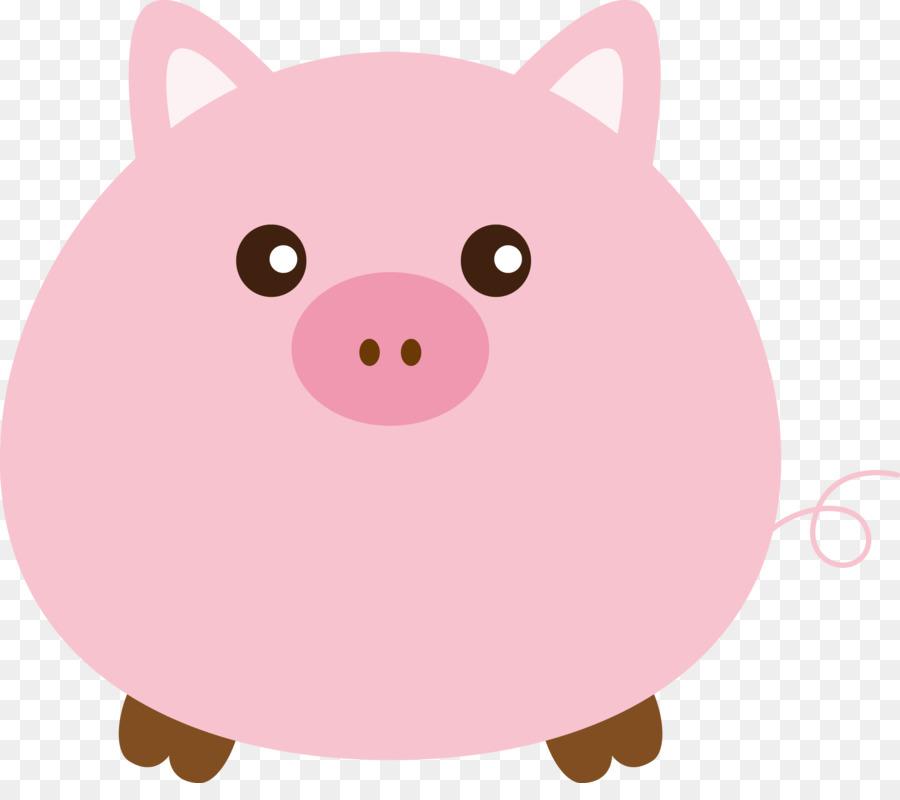 Pig vector. Cartoon png download free
