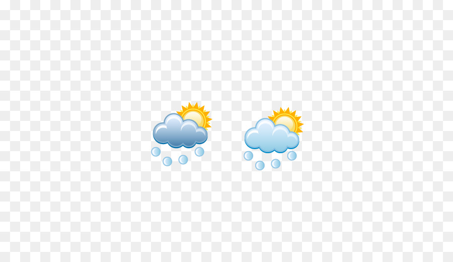 Weather Forecasting Hail Rain Cloud Weather Symbolspartly Cloudy