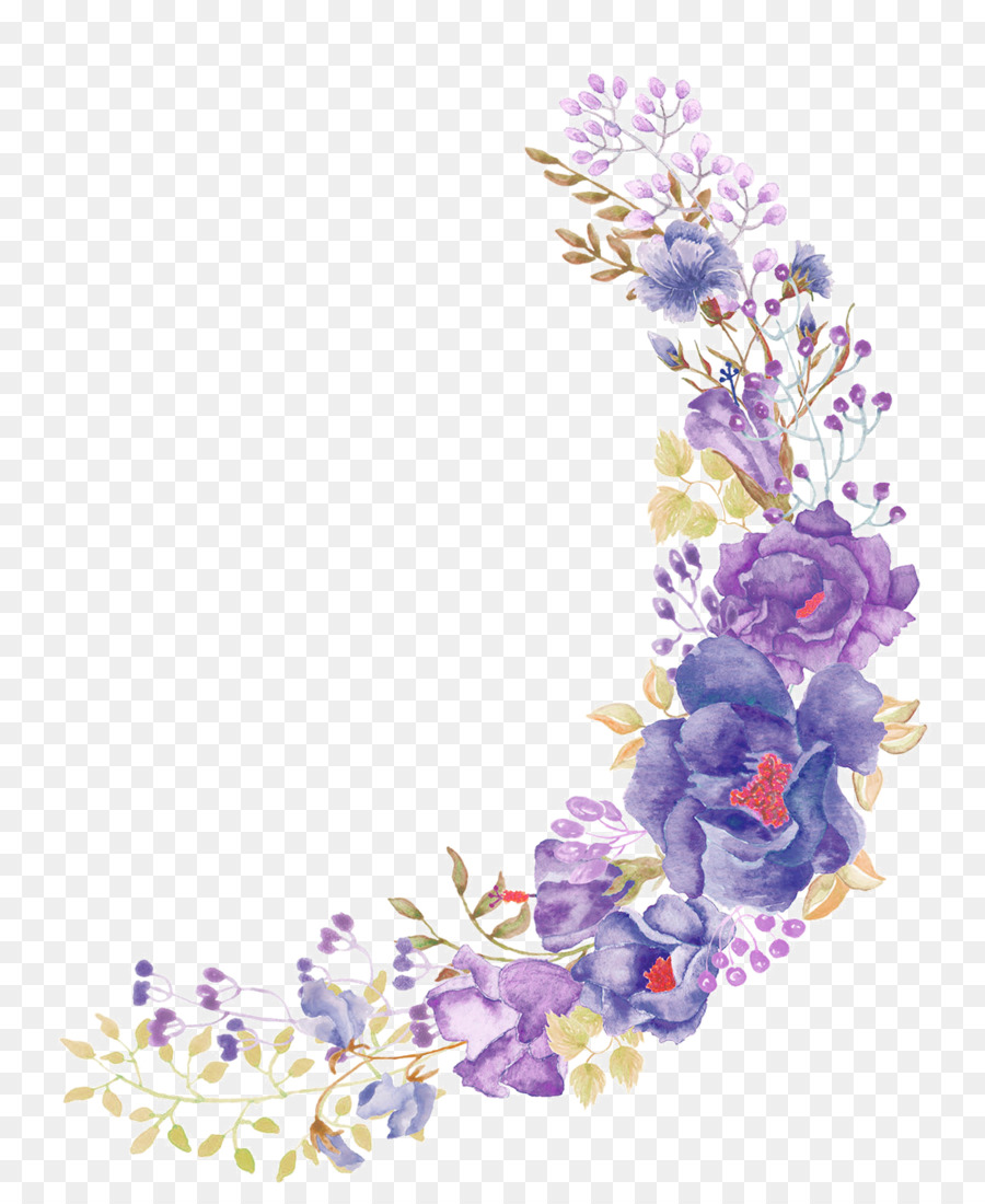 Floral design flower purple wreath beautiful purple painted floral design flower purple wreath beautiful purple painted flowers izmirmasajfo