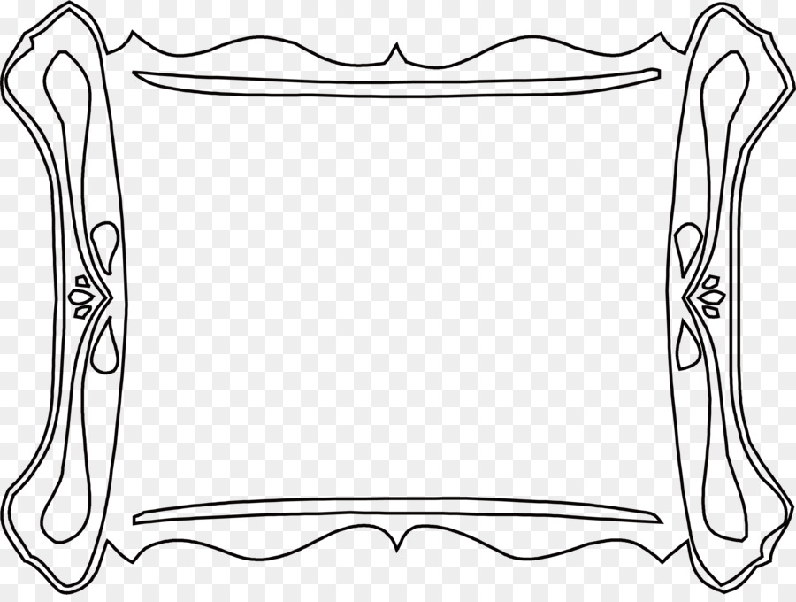 black and white clip art simple black frame png download 2584