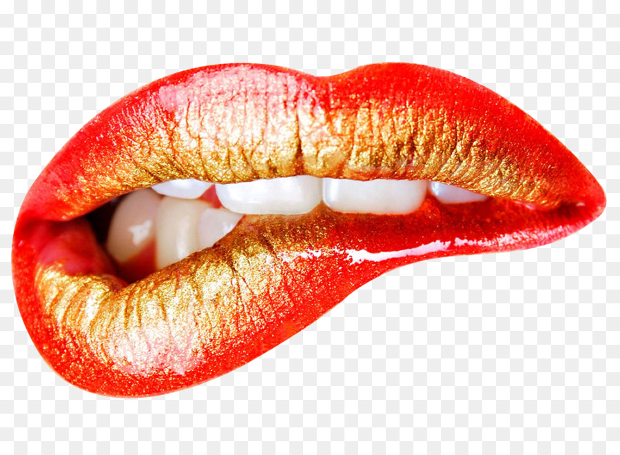 Lip Mouth Kiss Color - Vector Creative Hand-Painted Lips