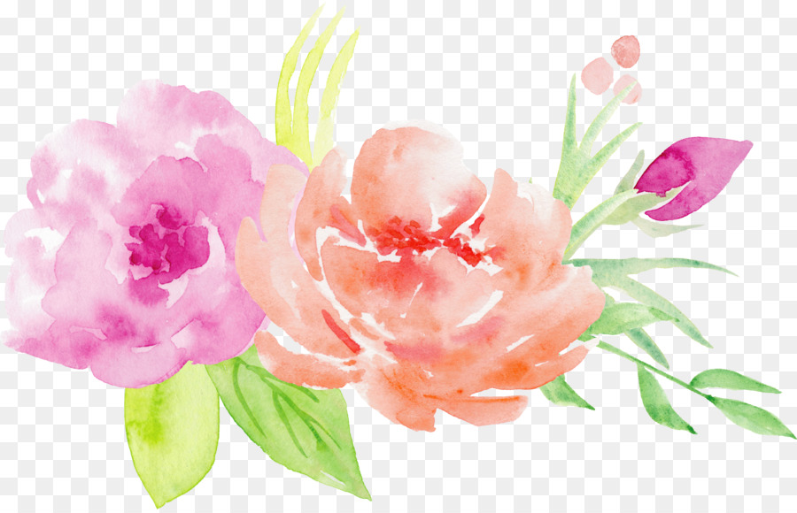 Watercolor painting Flower bouquet Illustration - Bouquet of roses ...