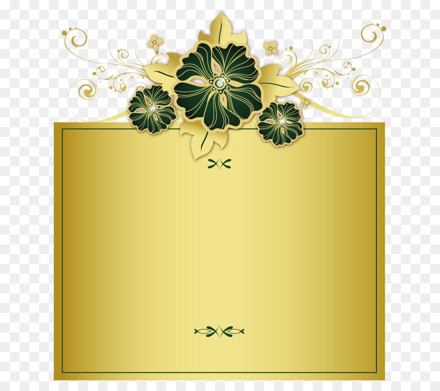 Motivo de archivos de Ordenador - De oro adornado marco patrones ...