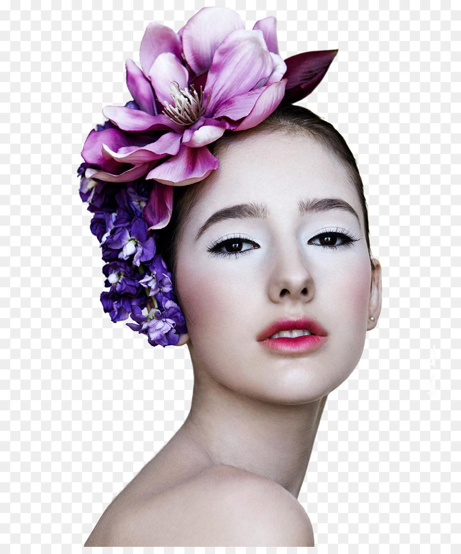 Europe Make Up Model Makeup Flowers Model Png Download 8001066