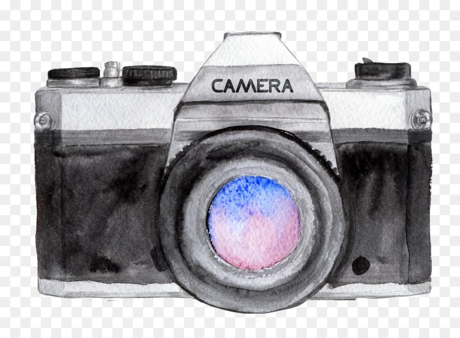 Cámara De Pintura A La Acuarela Dibujo Fotógrafo