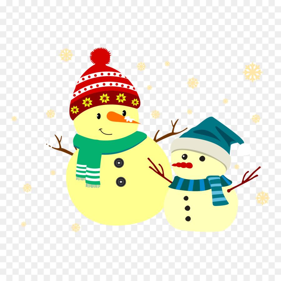 Schneemann Weihnachten Banner - Vektor-Schneemann trägt einen Hut ...