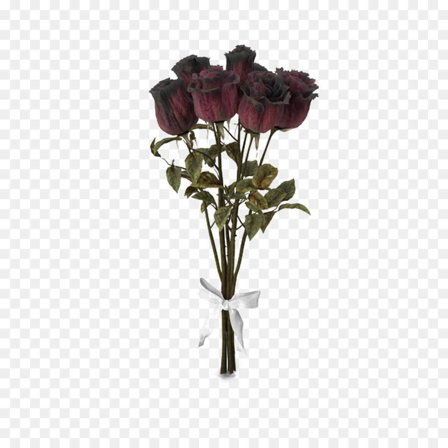 Garden roses Beach rose Flower bouquet - Dry rose bouquet png ...