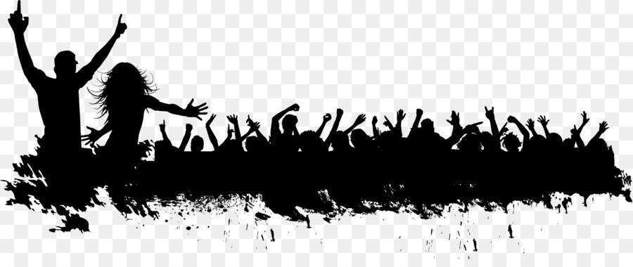 silhouette crowd carnival crowd silhouette vector