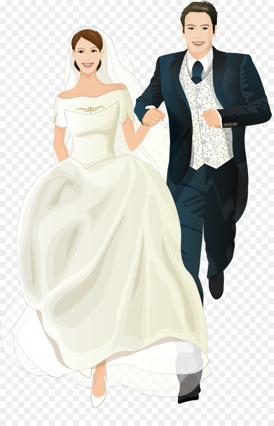 wedding invitation bridegroom marriage cartoon married couple png