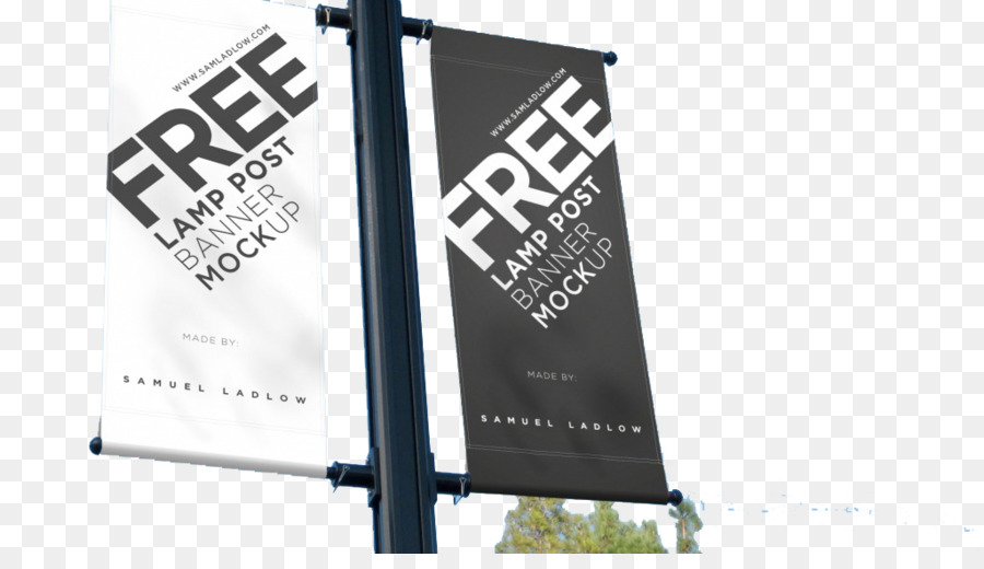 Mockup Banner Advertising Street Light Outdoor