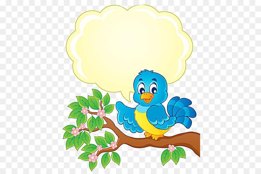 Cartoon Tree Thinking Birds Png Download 481 600 Free
