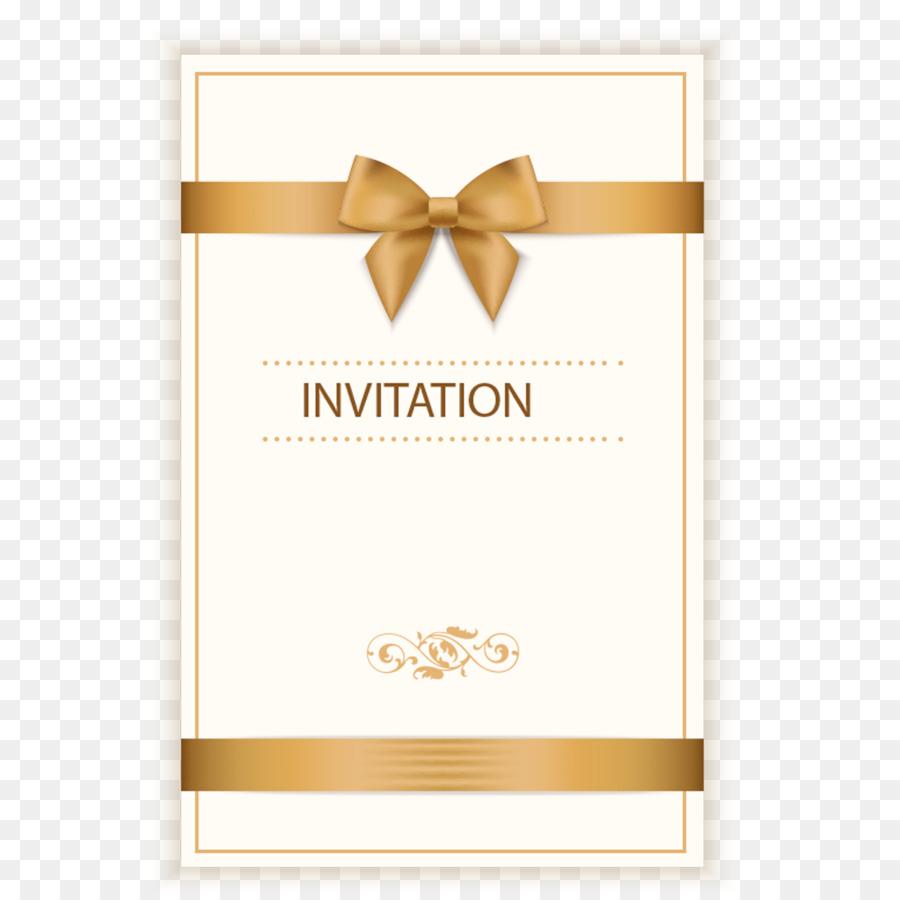 Wedding Invitation Birthday Greeting Card Ribbon Bowknot