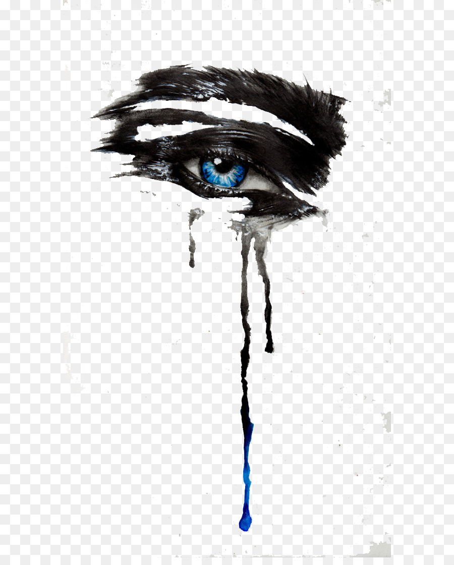 eye tears drawing ink eye care png download 650 1105 free