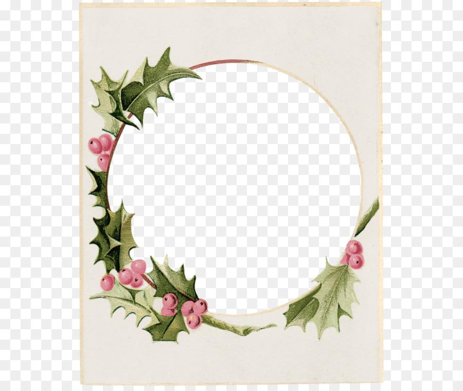 La navidad marco de Imagen de la Corona Clip art - Zarza de hoja ...