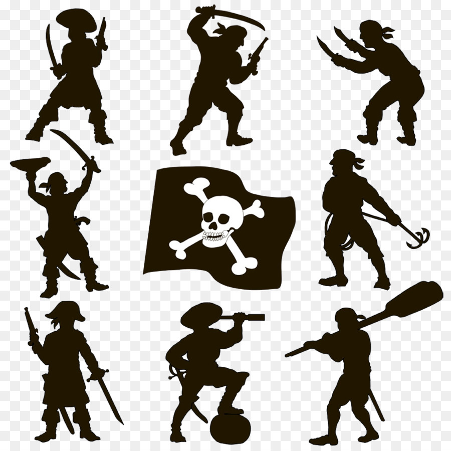 silhouette piracy royalty free clip art hand painted pirate image