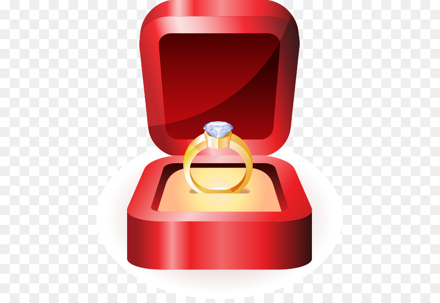 Wedding ring Engagement ring Clip art - Vector wedding ring on the ...