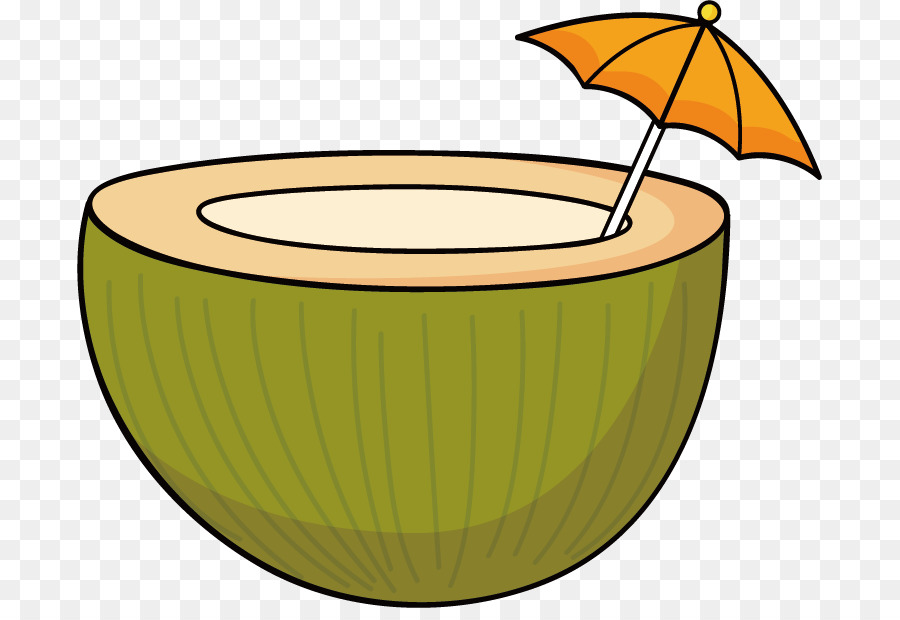 Coconut Milk Cartoon Drawing