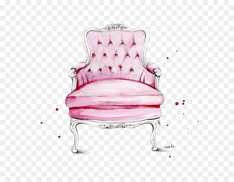 Chair Fashion Illustration Watercolor Painting Illustration   Princess Stool