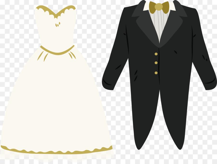 Wedding dress Bridegroom Marriage - Wedding dress of the bride and ...