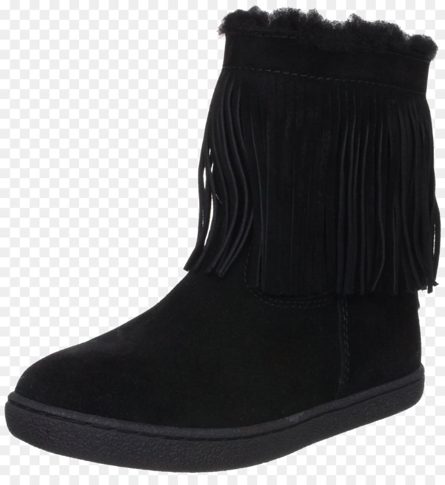 f2d9e1bf0 Bota de neve Sapato de Camurça de Pele - Preto botas com franjas ...