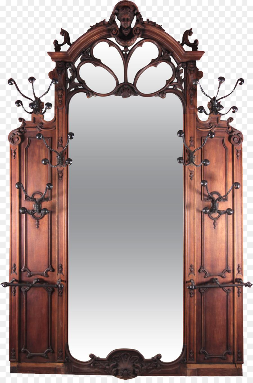 Mirror Art Nouveau Hall tree Art Deco - mirror png download - 951 ...