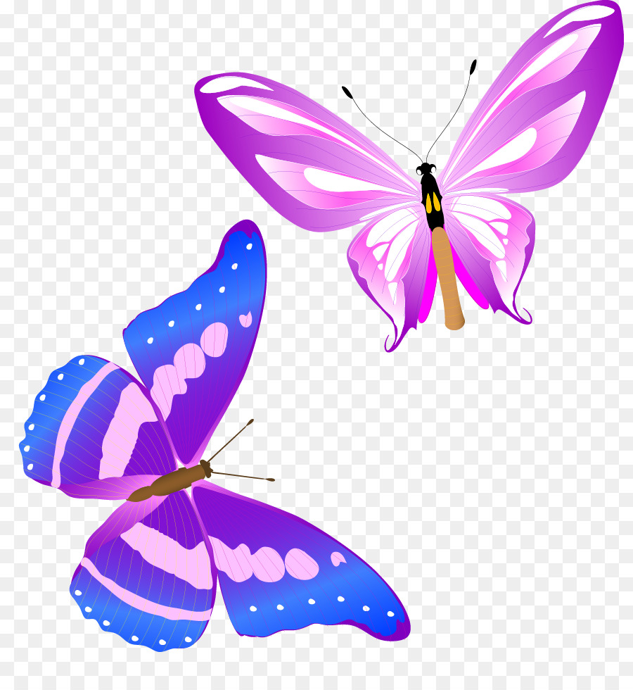 Monarch butterfly Insect Clip art - Fun Colorful butterfly vector ...