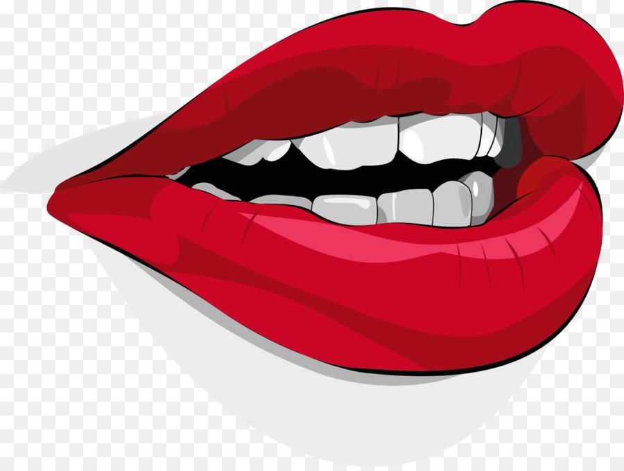 Mulut Bibir Clip Art Bibir Merah Dan Gigi Putih Unduh Fang