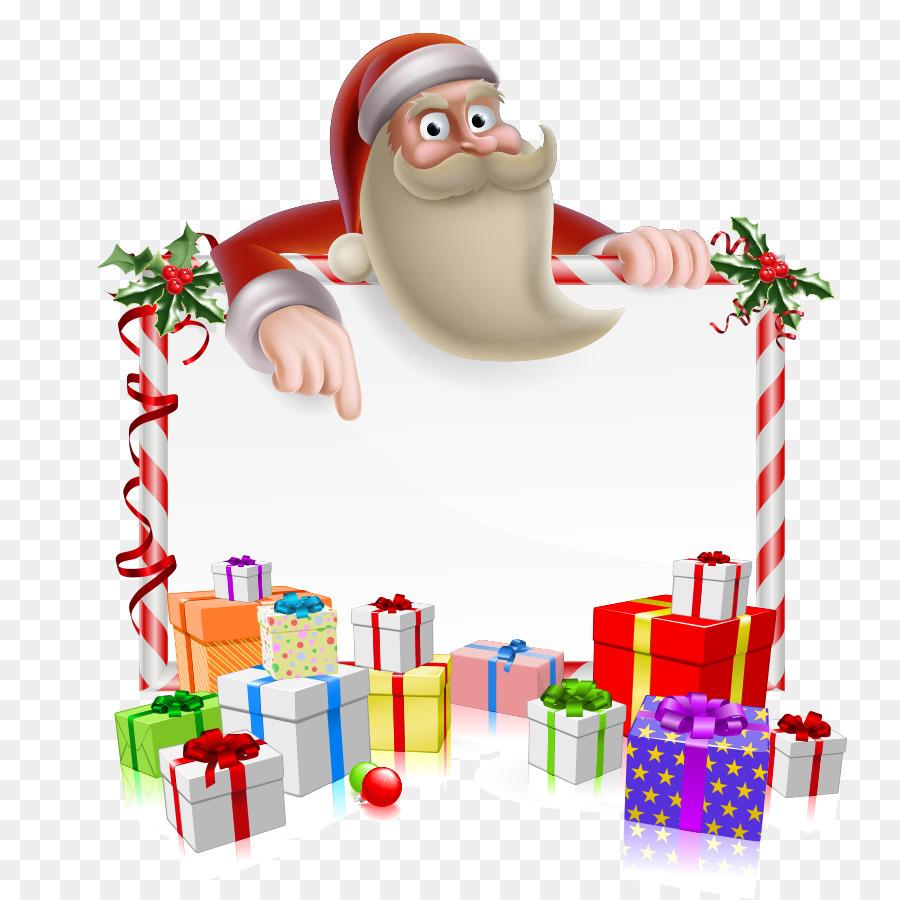 Santa Claus Rentier-Cartoon-Weihnachten - santa Grenze png ...