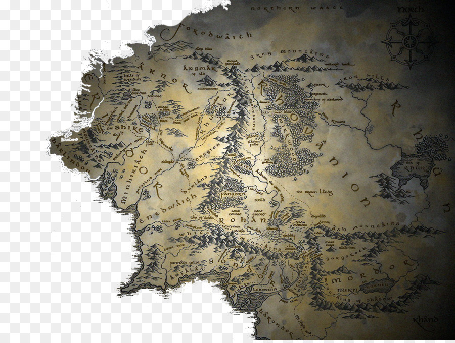 the lord of the rings the hobbit a map of middle earth old english maps