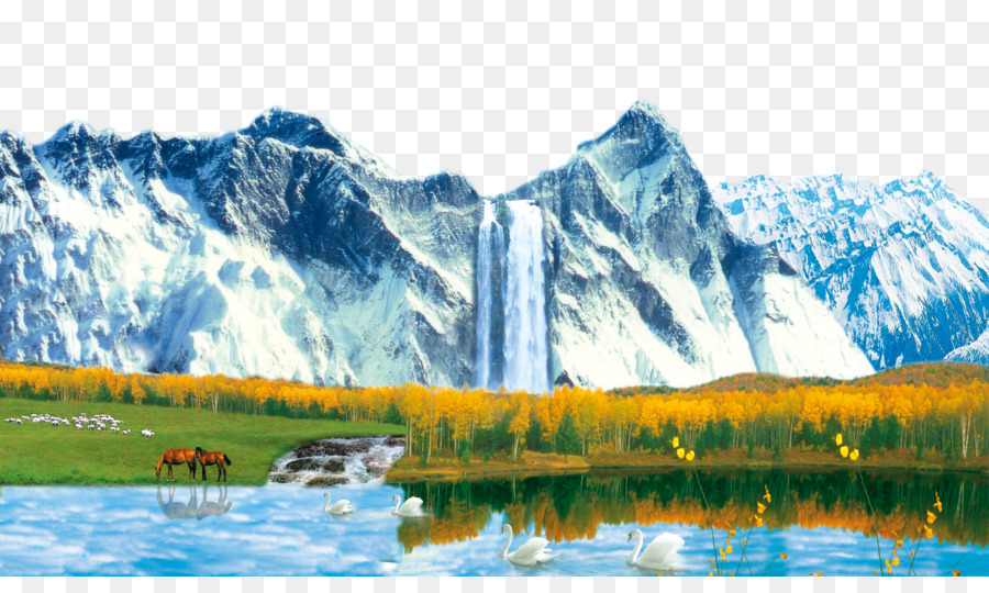 Landscape painting shan shui waterfall snow mountain falls view landscape painting shan shui waterfall snow mountain falls view altavistaventures Images