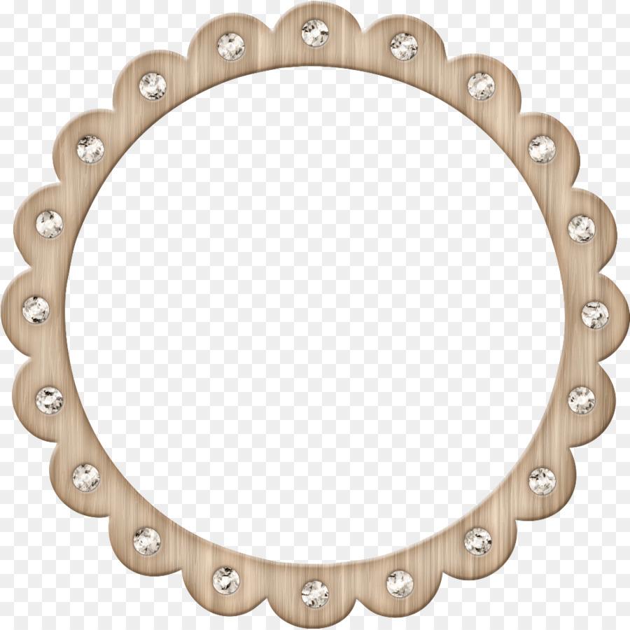 Círculo de arte de Clip - Encaje espejo incrustaciones de diamante ...