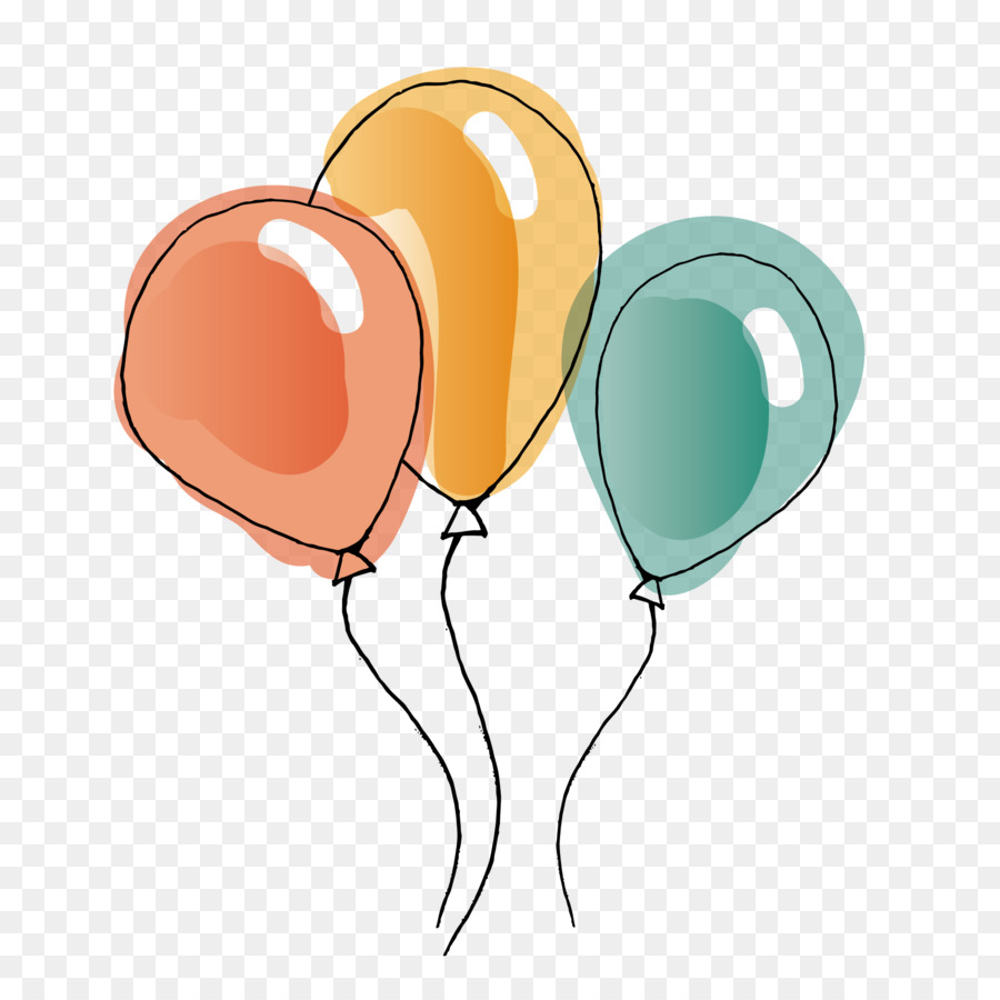 Balloons watercolor. Hot air balloon png