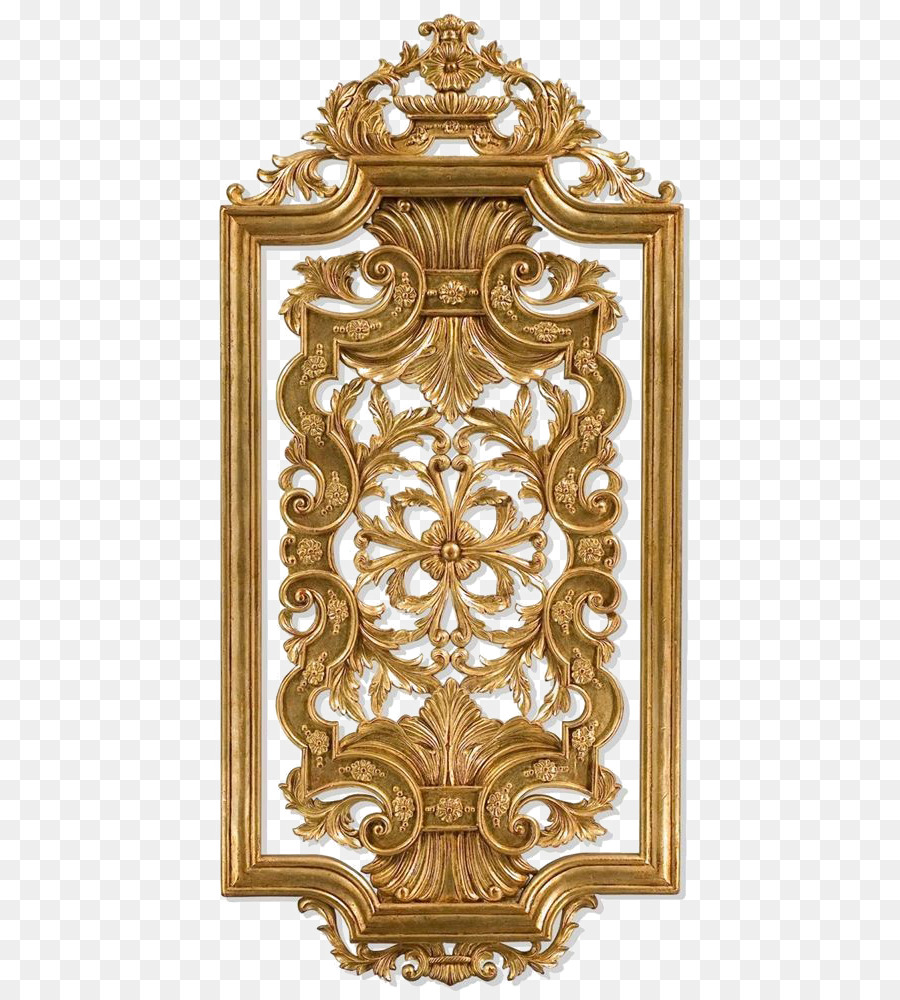 Wood Carving Wall Panel Panel Painting Gold Frame Png