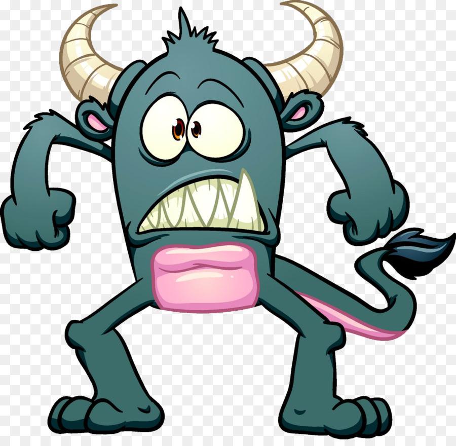 الكرتون الوحش التوضيح - الوحش مضحك