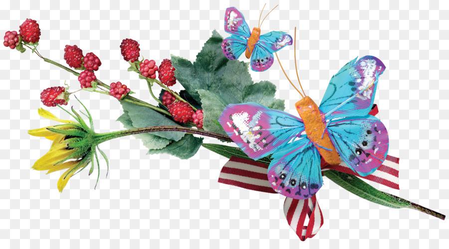 Butterfly Floral design Flower bouquet - Beautiful bouquet of ...