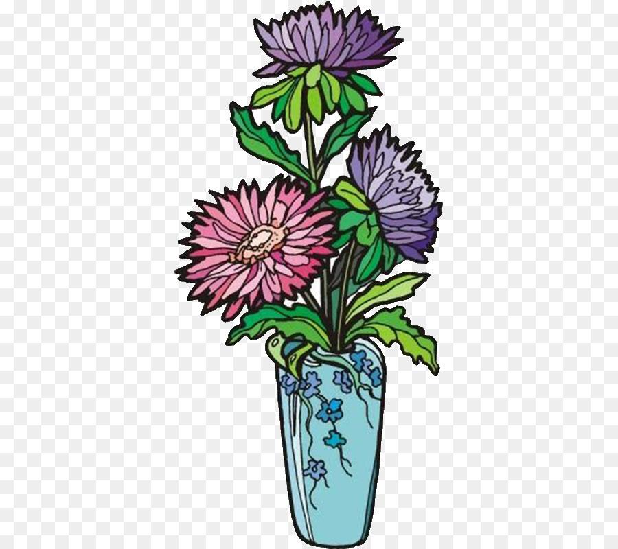 Floral Design Chrysanthemum Vase Illustration Chrysanthemum