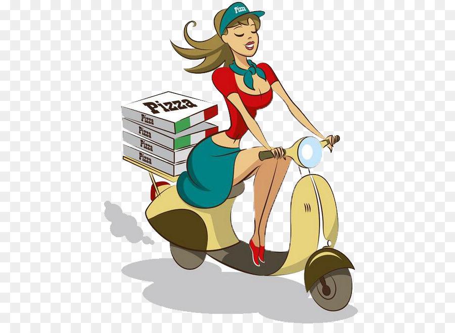 Scooter de entrega de Pizza - Pizza para llevar Formatos De Archivo ...