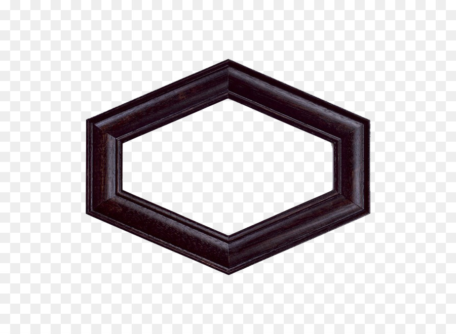 Hexagon Picture frame Photography - Black diamond frame png download ...