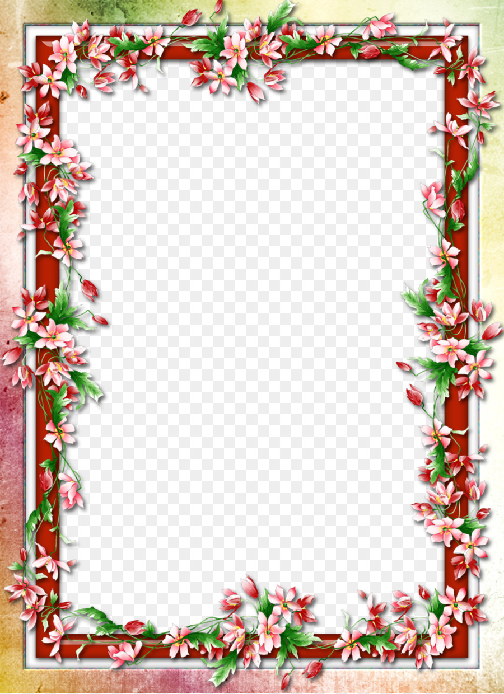 Flor - Floral frontera de diseño de imagen Formatos De Archivo De ...