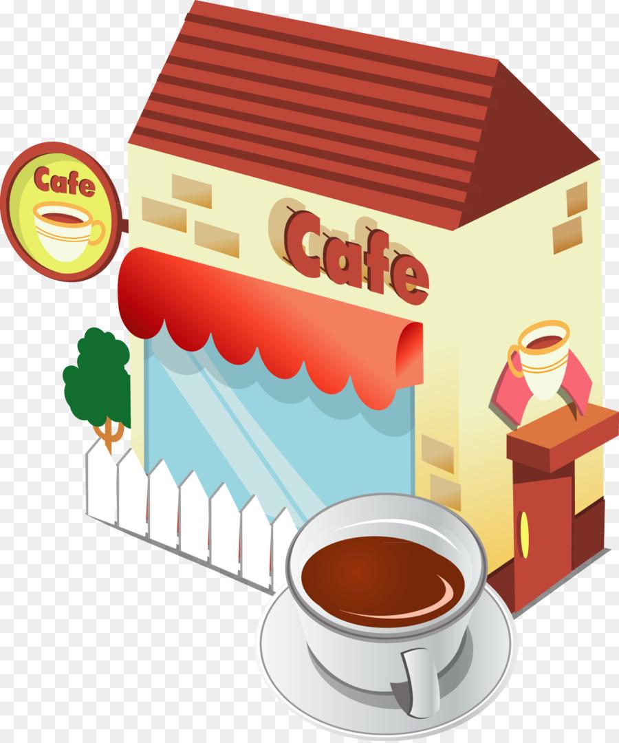 Café Café Plantilla - De dibujos animados de la tienda de café png ...