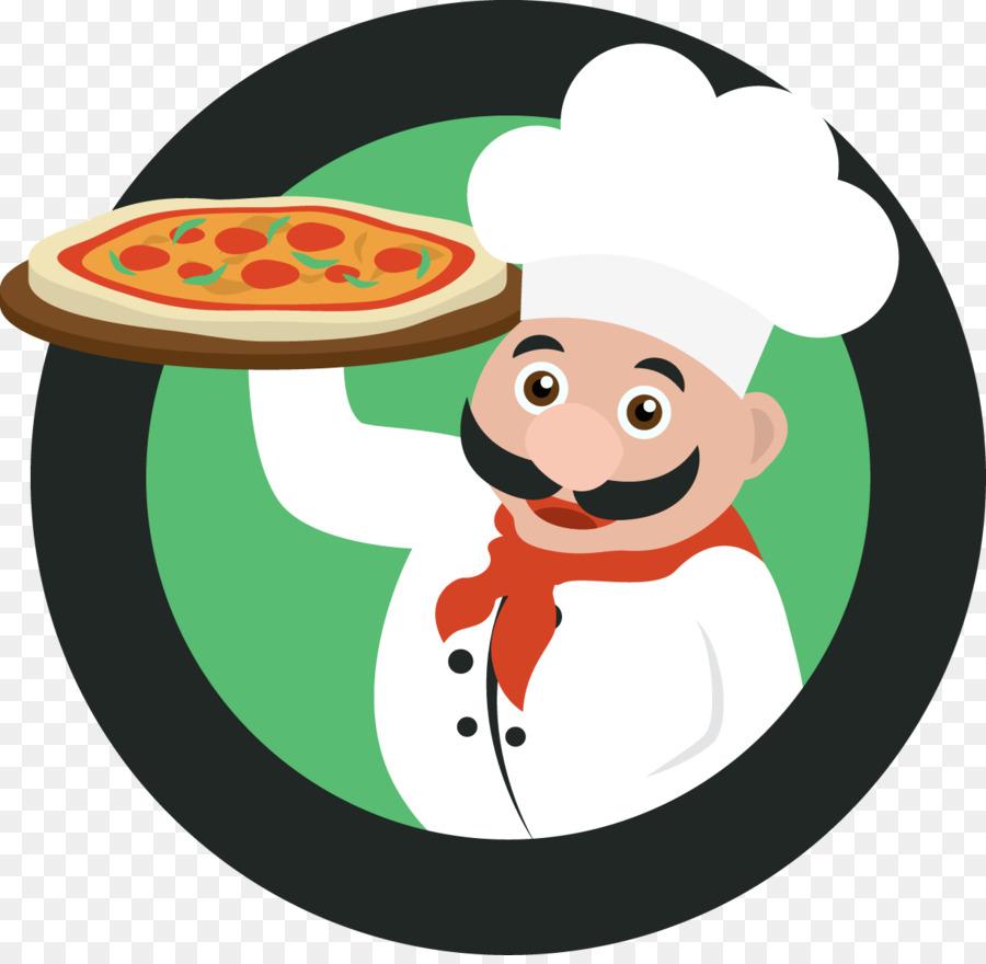 Saca el Chef de la Plantilla - Vector de la realización de pizza ...