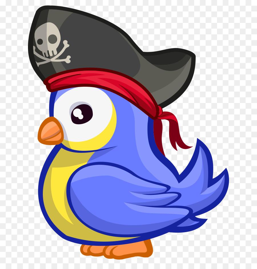 Kuş Karikatür Tavuk şapka Karikatür Korsan şapkası Mor Kuş Boyalı
