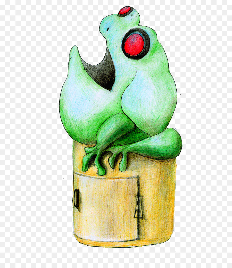 Environmental protection drawing frog trash
