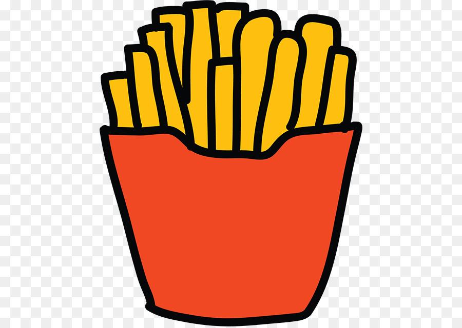 French Fries Hamburger Cartoon