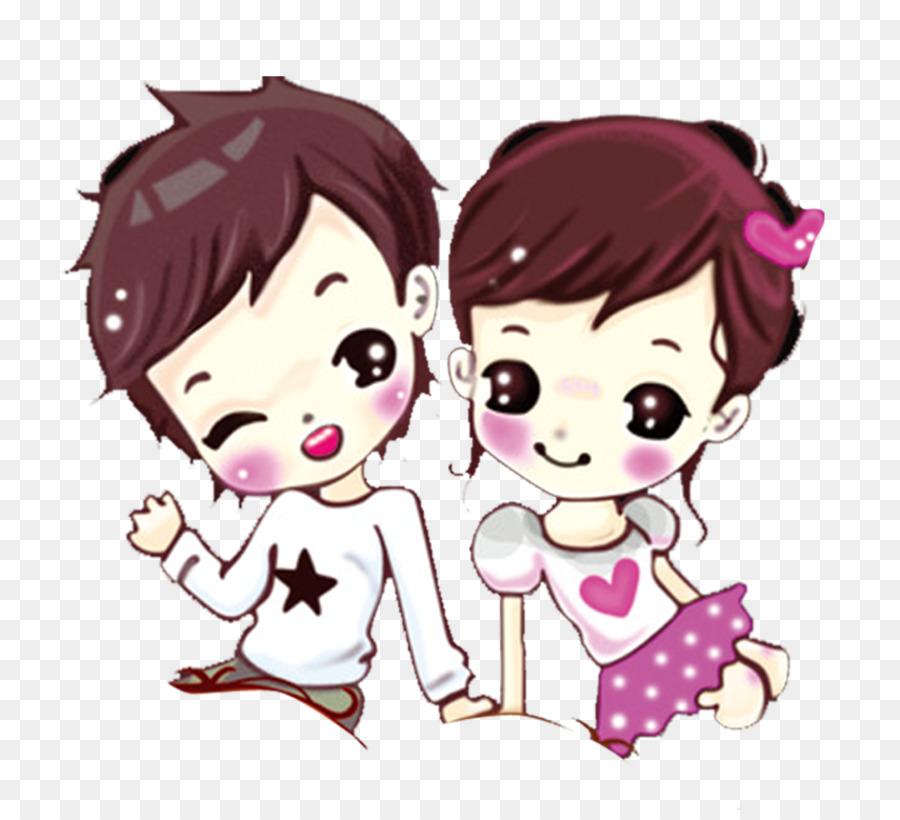 Couple Cartoon Wallpaper Creative Cartoon Couple Png Download